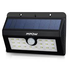 Led Outdoor Sensor Light Motion by Mpow Super Bright 20 Led Solar Powered Wireless Weatherproof
