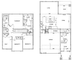 two floor plans two models and plans homes