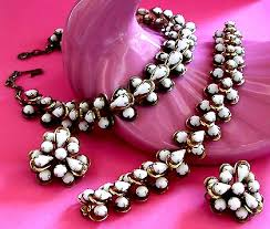 vintage necklace sets images Vintage costume antique jewelry matching jewelry sets parures jpg