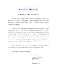 School No Letter Of Recommendation Nursing School Letter Of Recommendation Free Resumes Tips