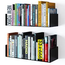 Book Self Design by Amazon Com Wallniture Floating Wall Mount Metal U Shape Shelf