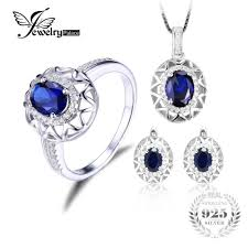 sapphire necklace set images Stunning russian sapphire jewellery set necklace earrings and jpg
