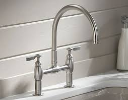 kitchen bridge faucet kohler parq kitchen faucets