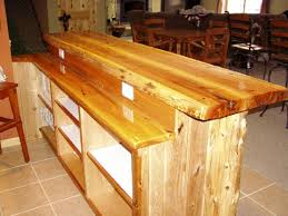 Cedar Table Top by Custom Bar Top Ideas Level White Cedar Bar Log Corners T U0026g