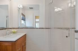 Bathroom Border Ideas Bathroom Colored Border On Subway Tile Bathroom Tiles And