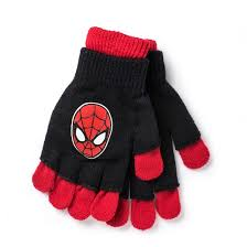 spider man kids u0027 double layer gloves black red size target