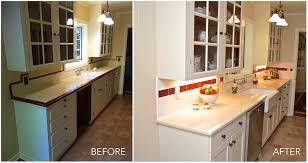 Before And After Galley Kitchen Remodels A 1937 Galley Style Kitchen Gets A Design Makeover