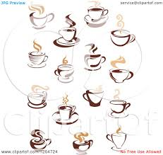 Cup Designs by Clipart Of Steamy Brown And Tan Coffee Cup Designs Royalty