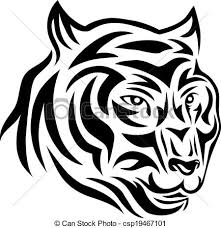 tiger tribal vector picture vector clipart search illustration