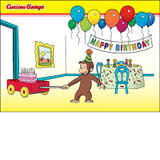 curious george birthday birthday party card exclusive items shop our website