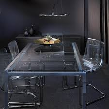 ikea glivarp extendable table glivarp extendable table in chrome tempered glass seats 4 6 with