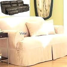 slipcovers for reclining sofa slipcovers for reclining sofa dual covers t cushion slipcover ivory