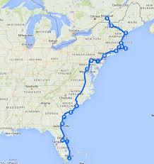 usa east coast map best 25 east coast road trip ideas on east coast