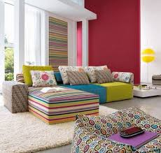 bright floor l for living room furniture bright living room with l shaped colorful sectional