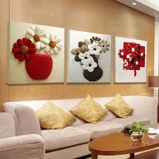 popular hotel room decorations buy cheap hotel room decorations 3piece framed picture red black white purple flower bottle wall painting modular kitchen room hotel living
