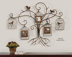 Decorative Metal Wall Art Metal Tree Wall Art Decor Paza Photo Collage Birds And Tree