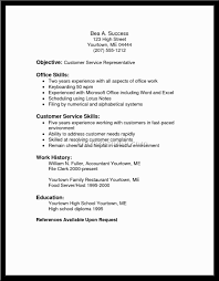 sample resumes for customer service resume examples throughout 17