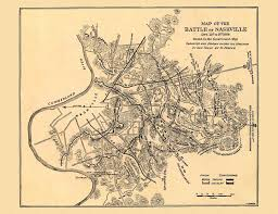 Nashville Zip Code Map by 24x36 Vintage Reproduction Civil War Map Battle Of Nashville 1864