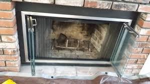 fireplace glass doors pleasant hearth fenwick large glass
