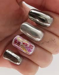tutorial nail art foil make nail art mirror powder and foil gel polish nails nail art