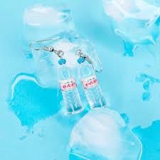 plastic bottle earrings evian bottle earrings jones a online shop based in