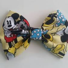mickey mouse hair bow shop mickey mouse fabric on wanelo