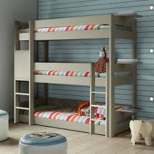 three bunk beds kids triple bunk bed in dominique design kids beds cuckooland