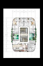 Office Building Floor Plan 47th Floor Penthouse Design 8 Proposed Corporate Office