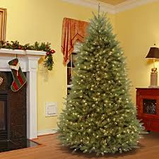 7 5 foot dunhill fir hinged tree with 700 low voltage dual led