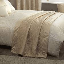 gatsby gold art deco luxury quilted matt satin throw julian charles