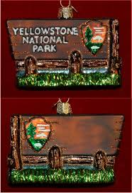 yellowstone national park personalized ornaments