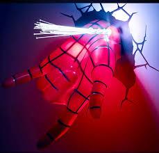 3d deco superhero wall lights avengers spider man 3d deco light superhero wall light led buytra com