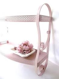 Shabby Chic Bath Towels by 50s Pink Coral Mod Shabby Chic Towel Holder Kitchen Towel Rack