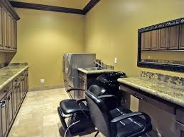 in home salon u0026 laundry room that would be awesome design