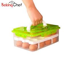 baking container storage bakingchef egg container storage box 24 grid bilayer basket food