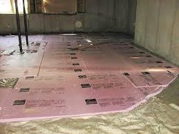 Basement Floor Insulation Preparing Insulating Basement Floor Laundry Room Pinterest