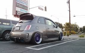 stanced jeep stanced fiat 500 6 cars one love
