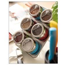portaspezie magnetico portaspezie magnetico in acciaio inox 6 contenitori e supporto 7