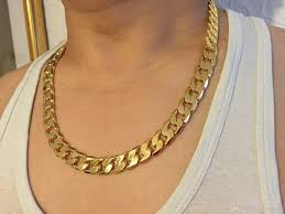 mens solid gold necklace images Heavy classic mens 18k real yellow solid gold chain necklace 23 6 jpg