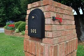 Wall Mount Locking Mailbox Home Depot Brick Mailbox Flag U2013 Monicarettig Com