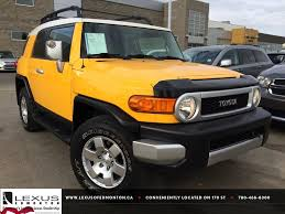 used lexus for sale alberta pre owned yellow 2007 toyota fj cruiser 4wd auto natl review