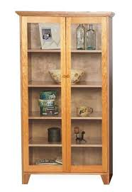 Cherry Bookcase With Glass Doors Bookcase Cherry Bookcase With Glass Doors Cherry Bookcase