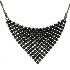 swarovski black necklace images Buy triangular necklace with black swarovski crystals by spark jpg