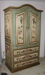 painted tv entertainment center french green armoire with pink