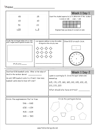 Free Writing Worksheets For 3rd Grade Free 3rd Grade Daily Math Worksheets