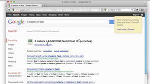 2 meters feet google tips youtube