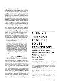 bureau vall nancy inservice teachers to use technology experience with the