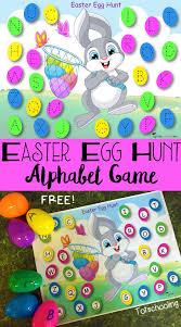 Printable Easter Egg Hunt Decorations by Easter Egg Hunt Alphabet Game U0026 Free Printable Totschooling