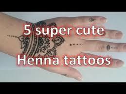 5 cute henna tattoos youtube