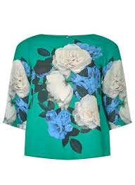 turquoise blouse green placement top clothing dorothy perkins